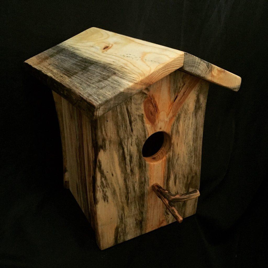 Natural Edge Bird House $65