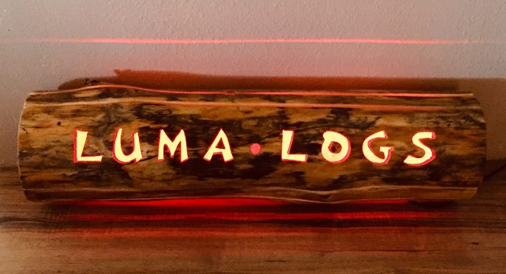 LUMA LOGS company sign