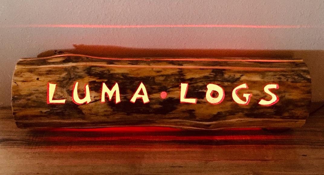 LUMA LOGS company sign