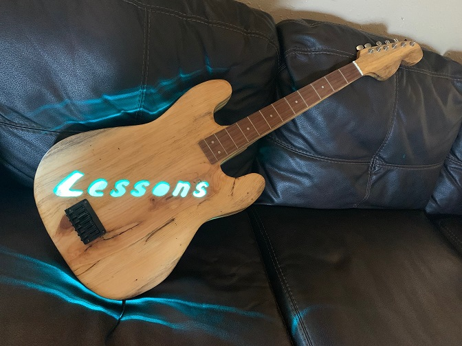 Lessons Guitar Sign